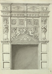 Newstead Abbey, chimney-piece f.86